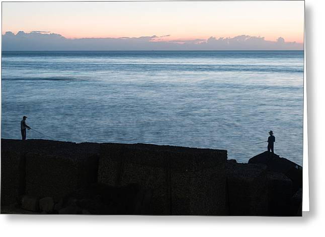 Little Boy Lost Greeting Cards - Fishermen at Riposto Greeting Card by Salvatore Pappalardo