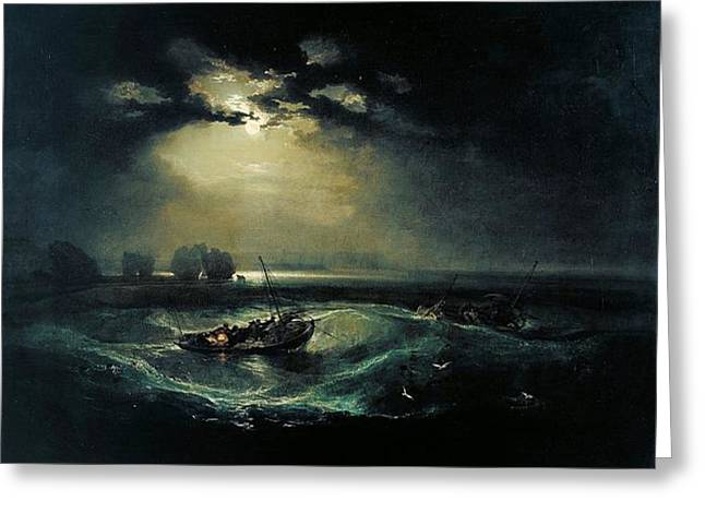 Jmw Greeting Cards - Fishermen at sea 1796  Greeting Card by Joseph Mallord William Turner