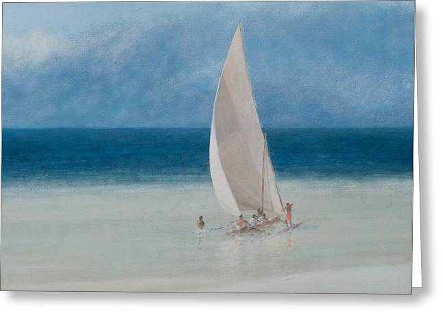 Docked Sailboat Greeting Cards - Fishermen Kilifi Greeting Card by Lincoln Seligman