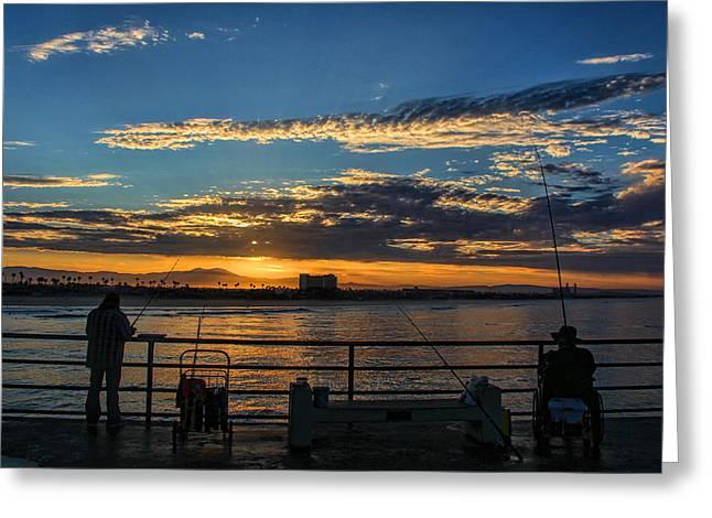 Tammy Espino Greeting Cards - Fishermen morning Greeting Card by Tammy Espino