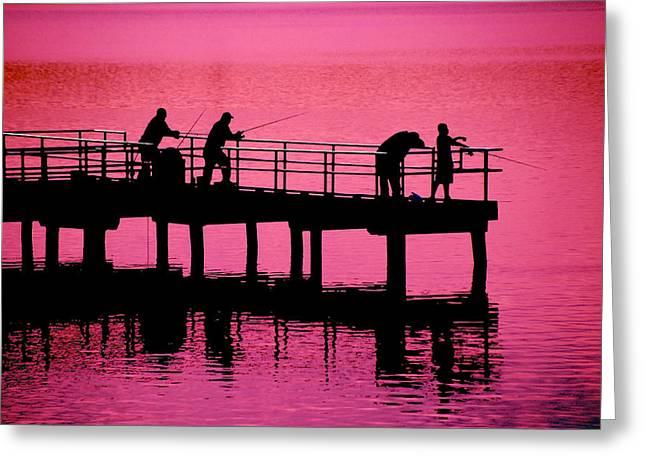 Raymond Salani Iii Greeting Cards - Fishermen Greeting Card by Raymond Salani III