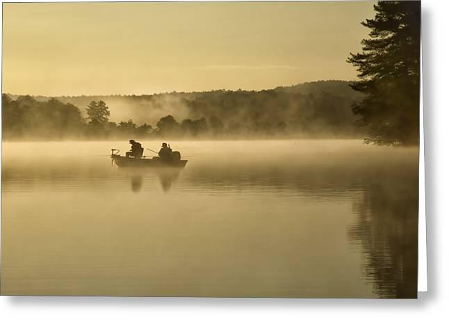 Fishermen Greeting Card by Steven  Michael