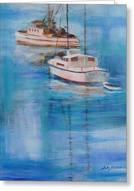 And Sand-mix Greeting Cards - Fishers Greeting Card by John  Svenson