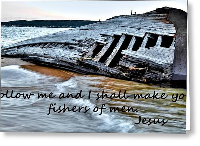 Holy Vessels Greeting Cards - Fishers of Men Greeting Card by Flora Ehrlich