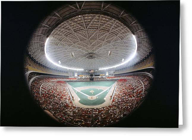 Houston Astrodome Greeting Card by Retro Images Archive