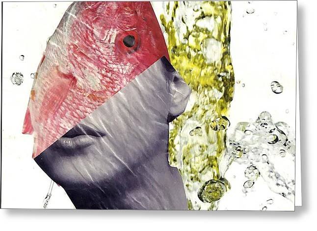 FishHead Greeting Card by Sarah Loft