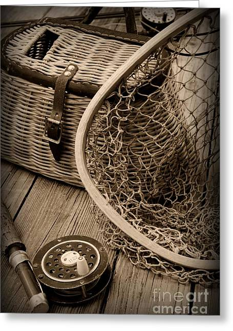 Trout Fishing Greeting Cards - Fishing - All That Gear Greeting Card by Paul Ward