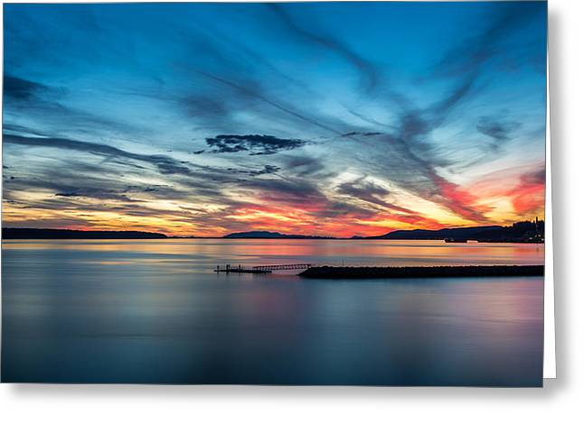 Fishing At Dusk Greeting Card by Pierre Leclerc Photography
