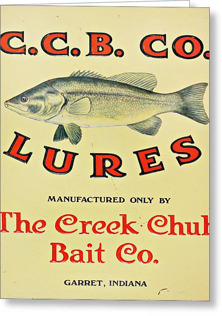 Fishing Creek Digital Greeting Cards - Fishing Bait Advertising Sign Greeting Card by Randy Steele