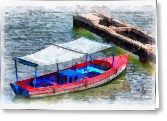 Santiago Cuba Greeting Cards - Fishing Boat Greeting Card by Dawn Currie