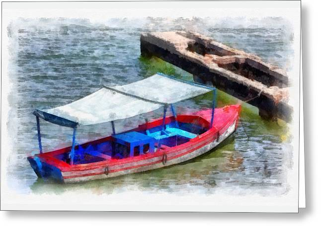 Fishing Boats Greeting Cards - Fishing Boat Greeting Card by Dawn Currie