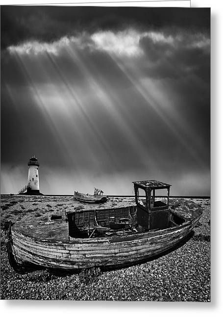 Fishing Boat Graveyard 11 Greeting Card by Meirion Matthias