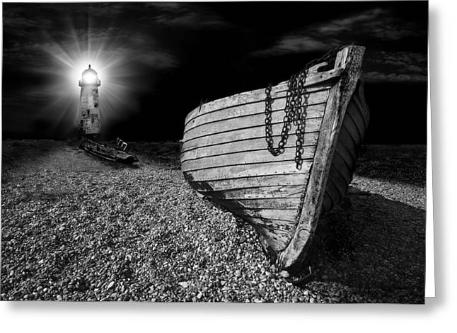 Fishing Boat Graveyard 5 Greeting Card by Meirion Matthias