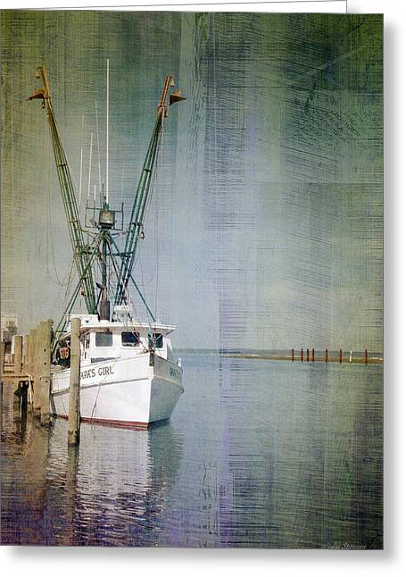Fishing Boat In Chincoteague Greeting Card by Julia Springer