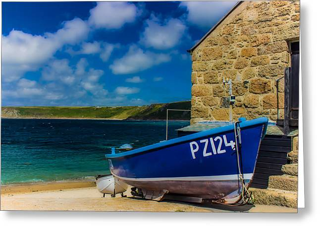 Cornwall Greeting Cards - Fishing Boat Greeting Card by Martin Newman
