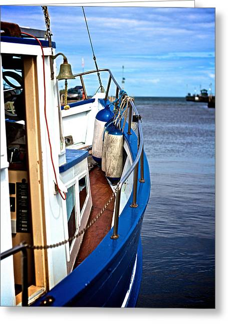 Fishing Boats Greeting Cards - Fishing Boat Greeting Card by Munier Schilling
