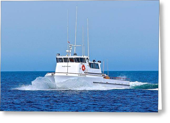 Channel Islander Greeting Cards - Fishing Boat Pacific Islander Greeting Card by Liz Vernand