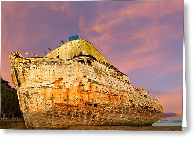 Marin County Greeting Cards - Fishing Boat Point Reyes Greeting Card by Kathleen Bishop