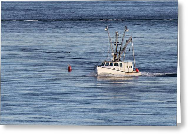 Chatham Greeting Cards - Fishing Boat Return Greeting Card by John Greim