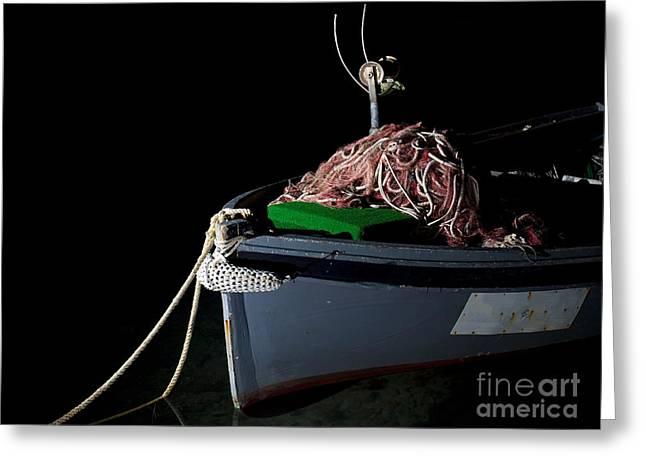 Old Fishing Gear Greeting Cards - Fishing boat Greeting Card by Sinisa Botas