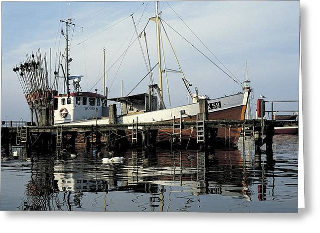 Water Vessels Greeting Cards - Fishing Boat Wogram Greeting Card by Heiko Koehrer-Wagner