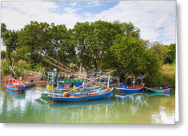 Light Tackle Greeting Cards - Fishing Boats Greeting Card by Alexey Stiop