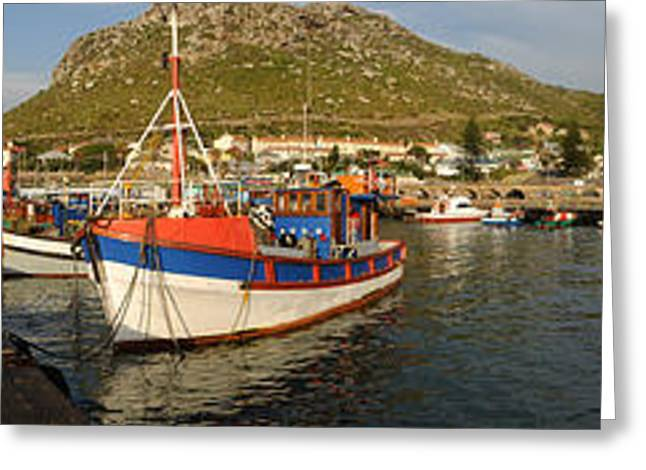 Fishing Boats Greeting Cards - Fishing Boats At A Harbor, Kalk Bay Greeting Card by Panoramic Images