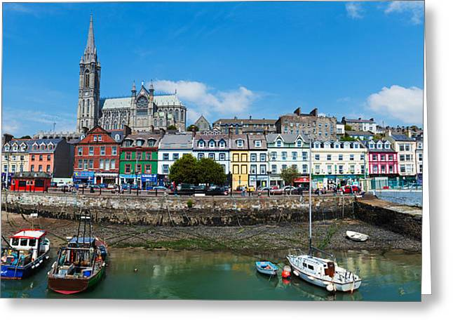 Spirituality Greeting Cards - Fishing Boats At A Harbor Greeting Card by Panoramic Images