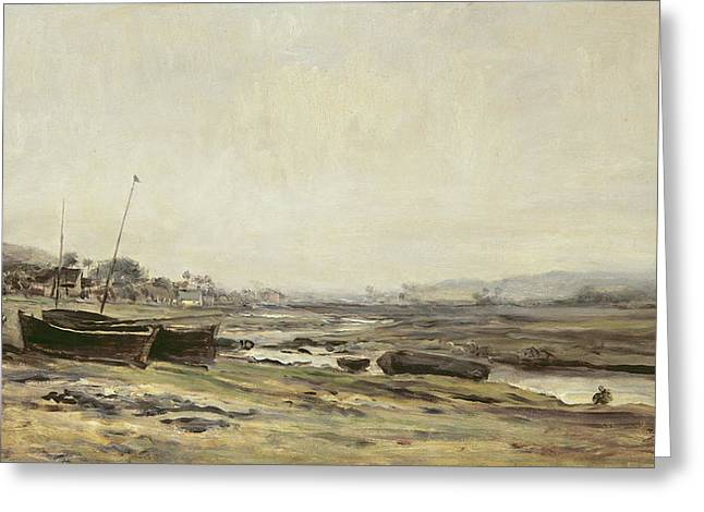 Bateau Greeting Cards - Fishing Boats Greeting Card by Charles Francois Daubigny