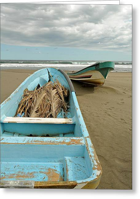 Fishing Boats Greeting Cards - Fishing Boats in El Salvador Greeting Card by Rick Frost