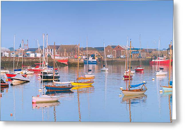 Small Fishing Village Greeting Cards - Fishing Boats in the Howth Marina Greeting Card by Semmick Photo