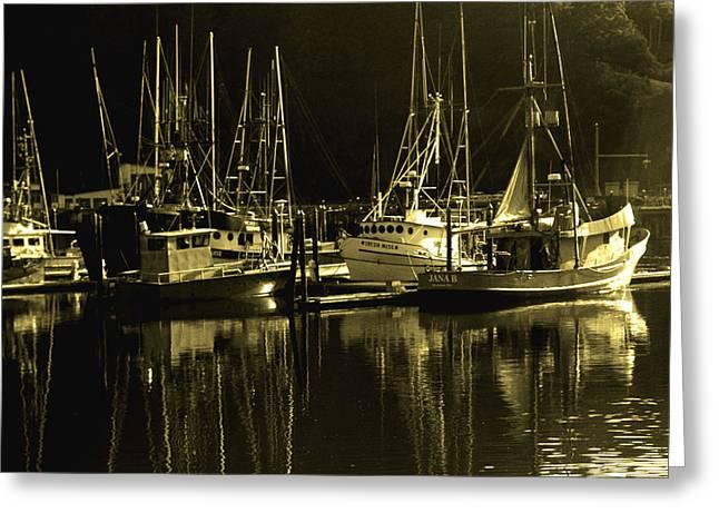 Joe Klune Greeting Cards - Fishing boats Greeting Card by Joe Klune