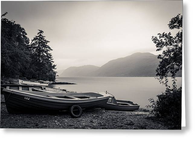 Scottish Greeting Cards - Fishing Boats on Loch Ness Greeting Card by Chris Dale