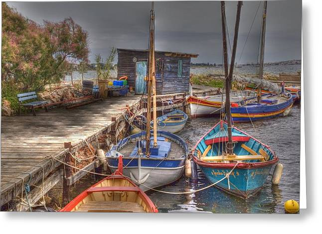 Languedoc Greeting Cards - Fishing Boats Greeting Card by Rod Jones