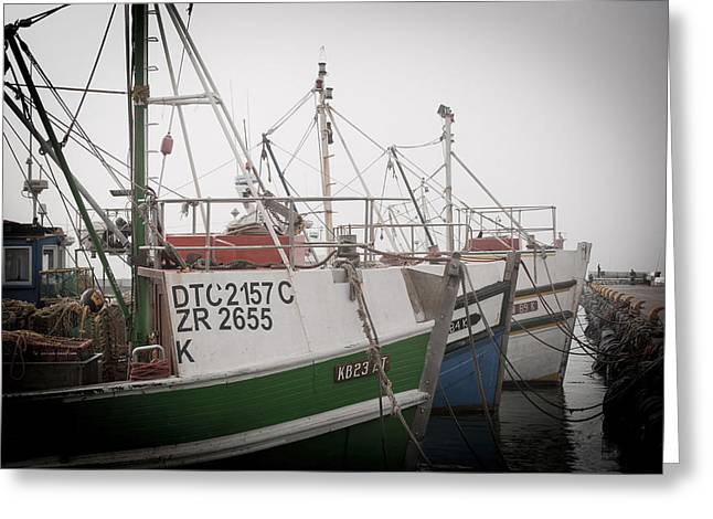 Tom Hudson Greeting Cards - Fishing Boats Greeting Card by Tom Hudson