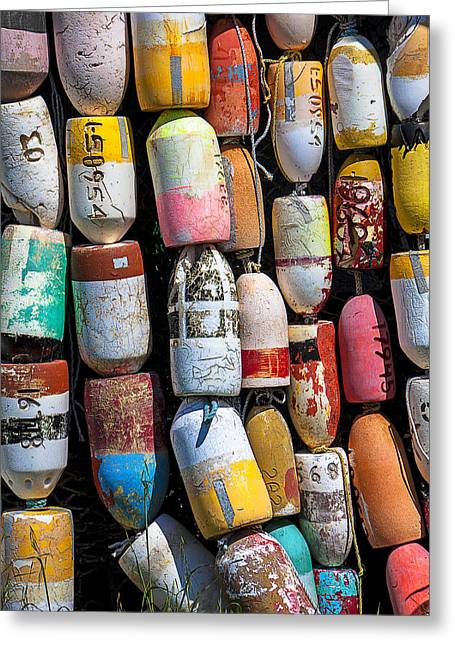 Commercial Greeting Cards - Fishing buoys Greeting Card by Garry Gay