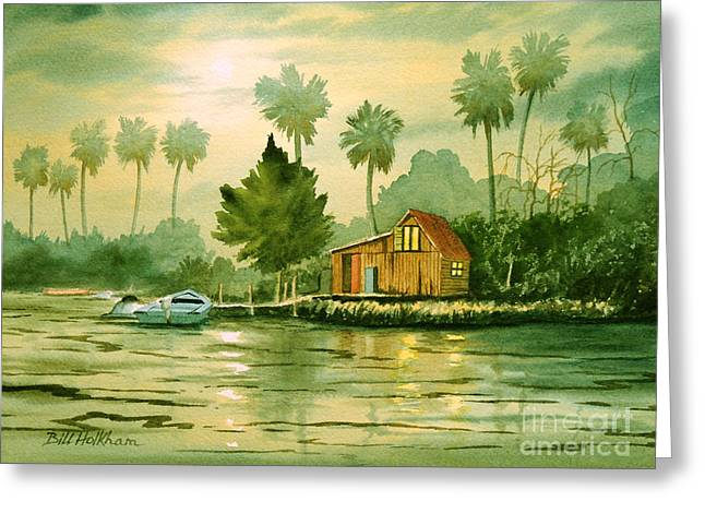 Mullet Greeting Cards - Fishing Cabin - Aucilla River Greeting Card by Bill Holkham