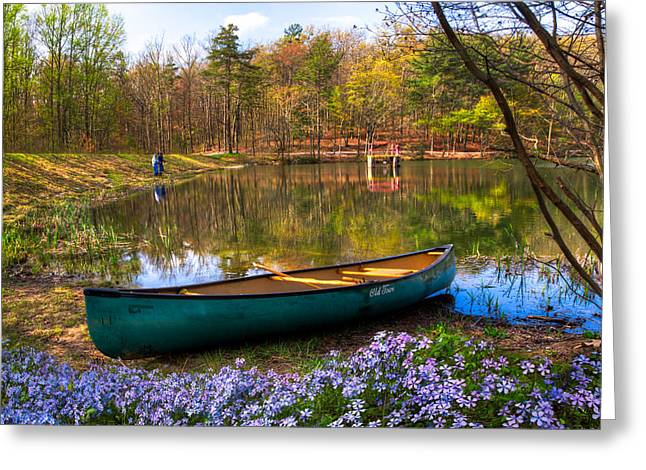 Tennessee River Greeting Cards - Fishing Greeting Card by Debra and Dave Vanderlaan
