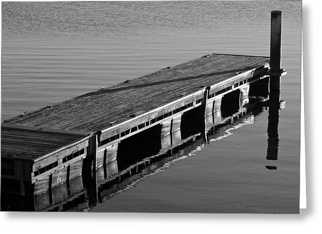 Black Tie Greeting Cards - Fishing Dock Greeting Card by Frozen in Time Fine Art Photography
