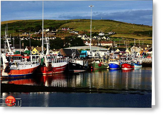 Fishing Trawler Greeting Cards - Fishing Fleet Greeting Card by Aidan Moran