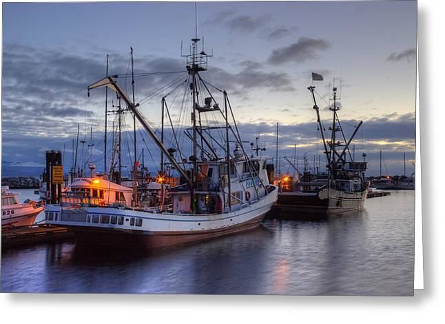 French Creek Marina Greeting Cards - Fishing Fleet Greeting Card by Randy Hall