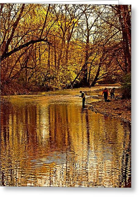 Fishing Creek Greeting Cards - Fishing Greeting Card by Tom Gari Gallery-Three-Photography