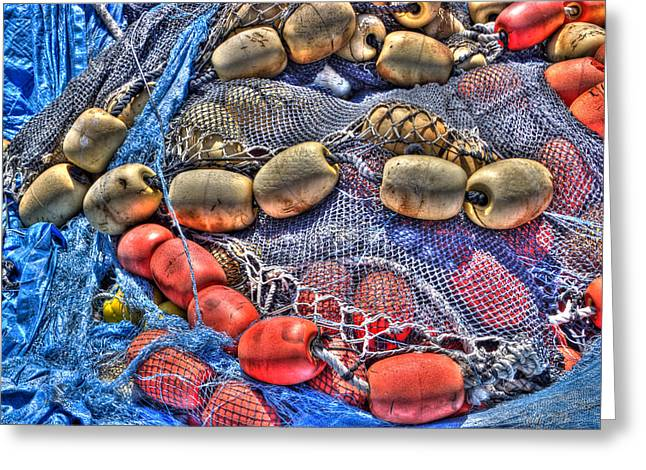 Lobster Bouys Greeting Cards - Fishing Gear Greeting Card by Heidi Smith