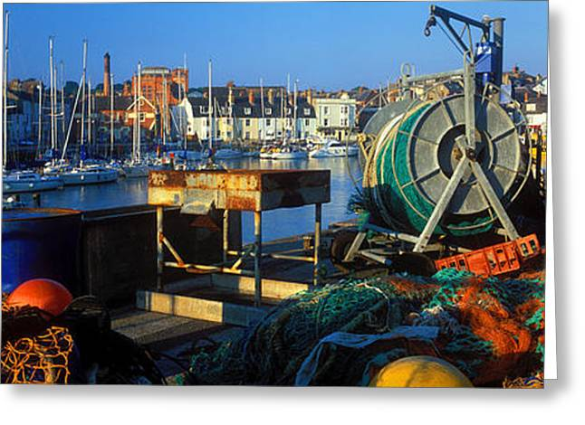 Masts Greeting Cards - Fishing Harbor, Weymouth, Dorset Greeting Card by Panoramic Images
