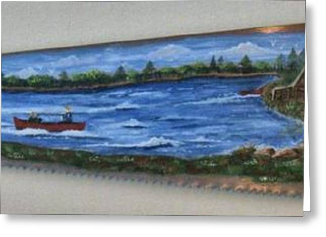 Saw Greeting Cards - Fishing in Canada Greeting Card by Noreen Swanson