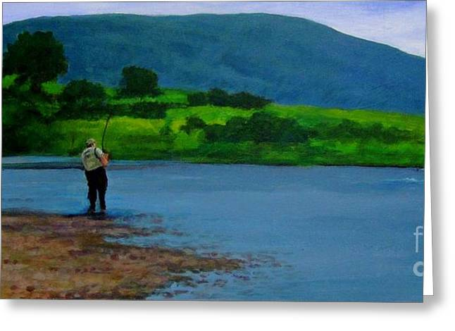 Trout Greeting Card Greeting Cards - Fishing in Cape Breton Nova Scotia Greeting Card by John Malone