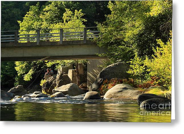Fishing Creek Greeting Cards - Fishing In Deer Creek Greeting Card by James Eddy