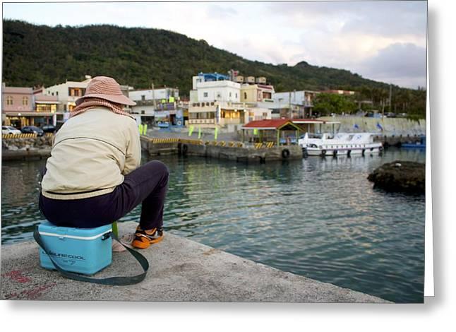 China Beach Greeting Cards - Fishing in Taiwan Greeting Card by Joe Maloney