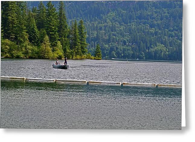 Fishing Lake Merwin Greeting Card by David Quist