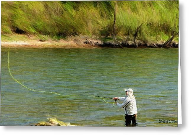 Guy Greeting Cards - Fishing Lake Taneycomo Greeting Card by Jeff Kolker